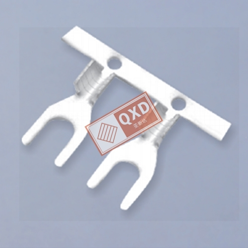 Fork terminal without insulation sheath